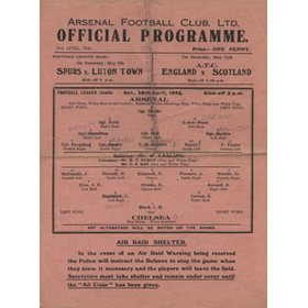ARSENAL V CHELSEA 1944-45 FOOTBALL PROGRAMME