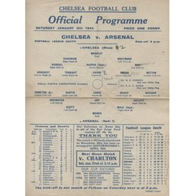 CHELSEA V ARSENAL 1943-44 FOOTBALL PROGRAMME