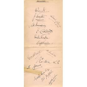 ARSENAL 1937-38 SIGNED ALBUM PAGE
