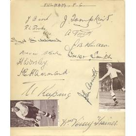 FULHAM - LATE 1930S SIGNED ALBUM PAGEs