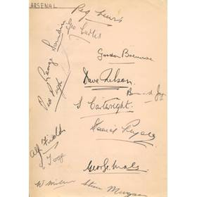 ARSENAL & ALDERSHOT FOOTBALL CLUBS - LATE 1930S SIGNED ALBUM PAGE