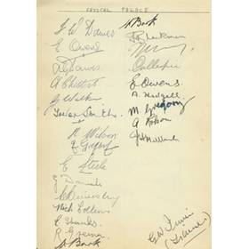 CRYSTAL PALACE & READING (WARTIME) SIGNED ALBUM PAGE