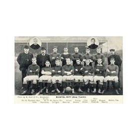 BRISTOL CITY (CUP TEAM) 1909 FOOTBALL POSTCARD