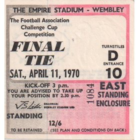CHELSEA V LEEDS UNITED (FA CUP FINAL) TICKET 1970