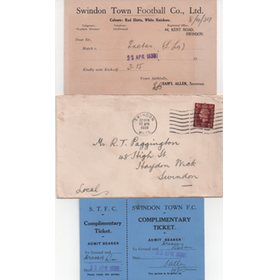 SWINDON TOWN V EXETER CITY 1939 (SELECTION CARD)