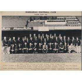 BARBARIANS 1978 RUGBY PHOTOGRAPH
