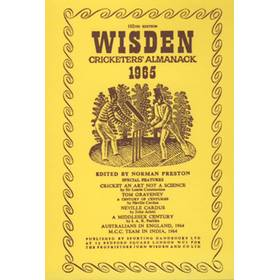WISDEN REPLACEMENT DUST JACKET 1965