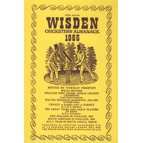 WISDEN REPLACEMENT DUST JACKET 1966