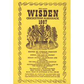 WISDEN REPLACEMENT DUST JACKET 1967