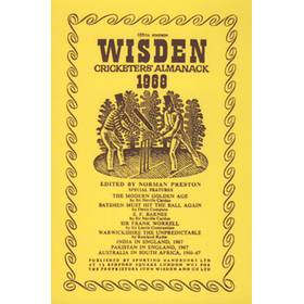 WISDEN REPLACEMENT DUST JACKET 1968