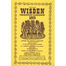 WISDEN REPLACEMENT DUST JACKET 1969