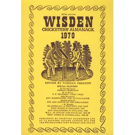 WISDEN REPLACEMENT DUST JACKET 1970
