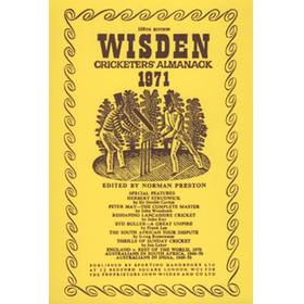 WISDEN REPLACEMENT DUST JACKET 1971