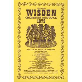 WISDEN REPLACEMENT DUST JACKET 1972