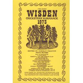 WISDEN REPLACEMENT DUST JACKET 1973
