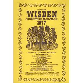WISDEN REPLACEMENT DUST JACKET 1977