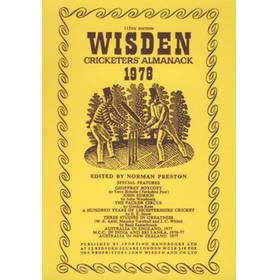 WISDEN REPLACEMENT DUST JACKET 1978