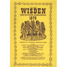 WISDEN REPLACEMENT DUST JACKET 1979