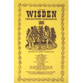 WISDEN REPLACEMENT DUST JACKET 1981