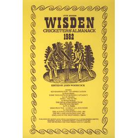 WISDEN REPLACEMENT DUST JACKET 1982