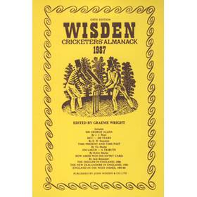 WISDEN REPLACEMENT DUST JACKET 1987