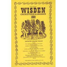 WISDEN REPLACEMENT DUST JACKET 1989