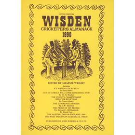 WISDEN REPLACEMENT DUST JACKET 1990