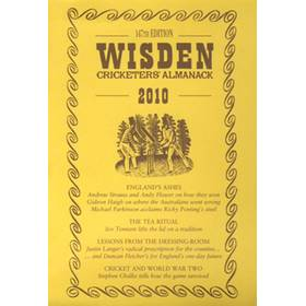 WISDEN TRADITIONAL-STYLE DUST JACKET 2010