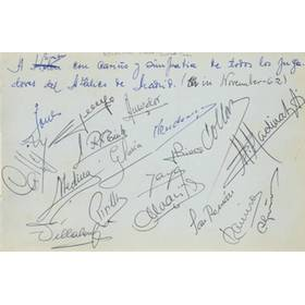ATLETICO MADRID (ECWC WINNERS) 1962 SIGNED ALBUM PAGE