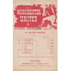 MANCHESTER UNITED V OLDHAM ATHLETIC 1945 FOOTBALL PROGRAMME
