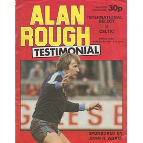 ALAN ROUGH TESTIMONIAL MATCH 1982 FOOTBALL PROGRAMME
