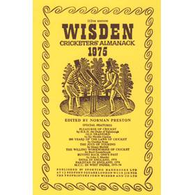 WISDEN REPLACEMENT DUST JACKET 1975