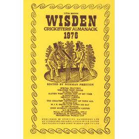 WISDEN REPLACEMENT DUST JACKET 1976