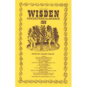 WISDEN REPLACEMENT DUST JACKET 1988