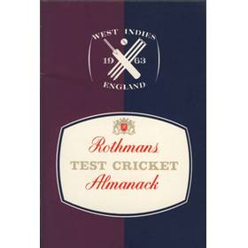 ROTHMANS TEST CRICKET ALMANACK: WEST INDIES V ENGLAND 1963