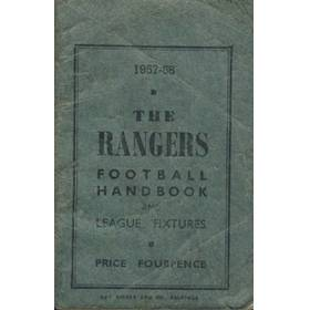 RANGERS FOOTBALL CLUB HANDBOOK AND LEAGUE FIXTURES 1957-58