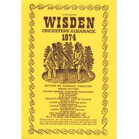 WISDEN REPLACEMENT DUST JACKET 1974