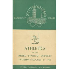 LONDON OLYMPICS 1948 - 5TH AUGUST ATHLETICS PROGRAMME
