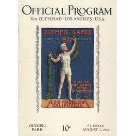 LOS ANGELES OLYMPICS 1932 - 7TH AUGUST OFFICIAL PROGRAM