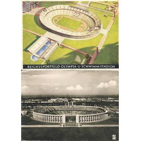 BERLIN OLYMPICS 1936 STADIUM - TWO POSTCARDS