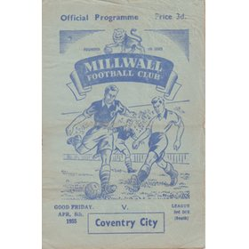 MILLWALL V COVENTRY CITY 1955 FOOTBALL PROGRAMME