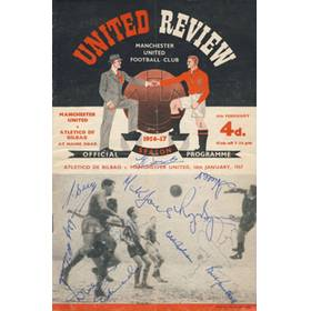 MANCHESTER UNITED V ATLETICO DE BILBAO 1957 ( SIGNED BY BUSBY BABES)