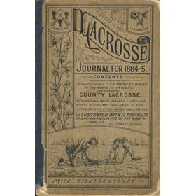 LACROSSE JOURNAL FOR 1884-5