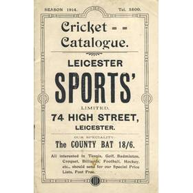 CRICKET CATALOGUE 1914 (LEICESTER SPORTS