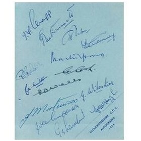 GLOUCESTERSHIRE 1954 CRICKET AUTOGRAPHS