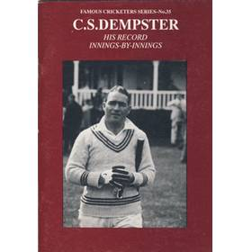 C.S.DEMPSTER: HIS RECORD INNINGS-BY-INNINGS