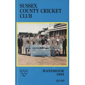 SUSSEX COUNTY CRICKET CLUB HANDBOOK 1991