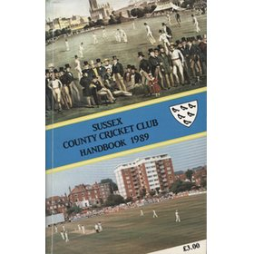 SUSSEX COUNTY CRICKET CLUB HANDBOOK 1989