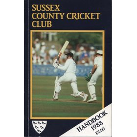SUSSEX COUNTY CRICKET CLUB HANDBOOK 1988
