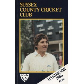 SUSSEX COUNTY CRICKET CLUB HANDBOOK 1986